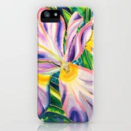 White Iris of Belize iPhone Case