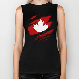 Canadian Red Flag Pride Biker Tank