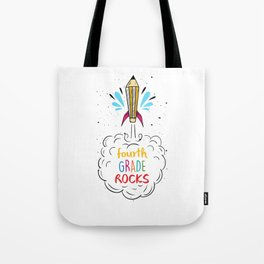 Fourth Grade Rocks Back To School Studying Gifts Tote Bag