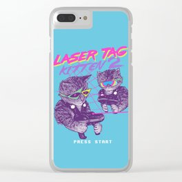 Laser Tag Kitten 2 Clear iPhone Case