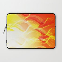 Theme of fire for the banner. Bright red and orange glare on a gentle background for a fabric or pos Laptop Sleeve
