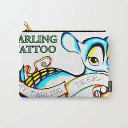 Steph Darling Tattoo Designed at The Nines Tattoo and Art Parlor Carry-All Pouch