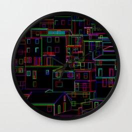 Midnight in Manarola, Cinque Terre, Italy Wall Clock