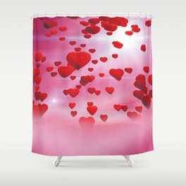 Sky is full of love Shower Curtain