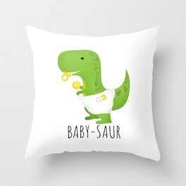 Baby-saur Throw Pillow