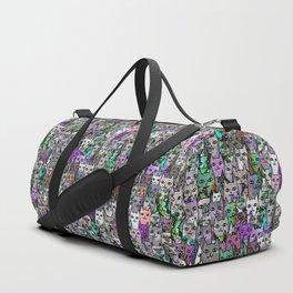 Gemstone Cats UltraViolet Green Palatte Duffle Bag