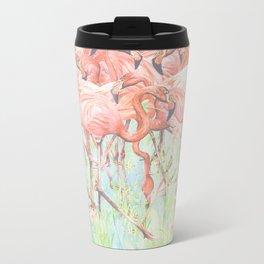 Flamingo Meadow Metal Travel Mug