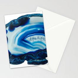 Blotchy Blue Brain Agate Slice Stationery Cards