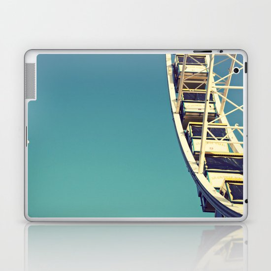 The sky, the moon and the Ferris Wheel Laptop & iPad Skin