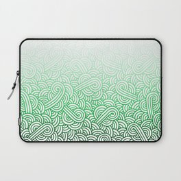 Gradient green and white swirls doodles Laptop Sleeve