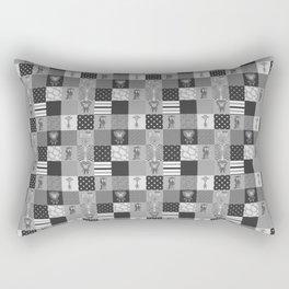 Jungle Friends Shades of Grey Cheater Quilt Rectangular Pillow