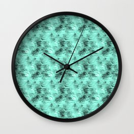 Patched Teal Waters Wall Clock