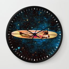 Pleiadian Surfer Wall Clock