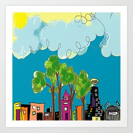 JL The City View Art Print