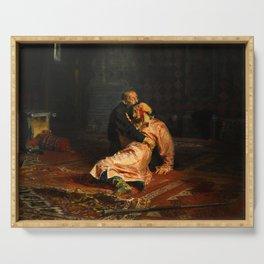 Vivid Retro - Ivan the Terrible and His Son Ivan Serving Tray