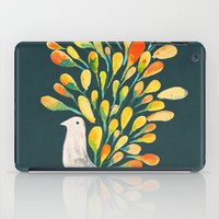peacock iPad Cases featuring Watercolor Peacock by Picomodi