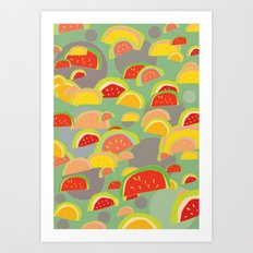 bright watermelons Art Print
