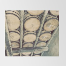 Kentucky Bourbon Barrels Color Photo Throw Blanket