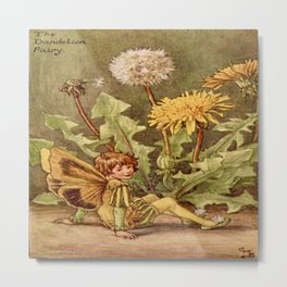 """""""The Dandelion Fairy"""" by Cicely Mary Barker  Metal Print"""