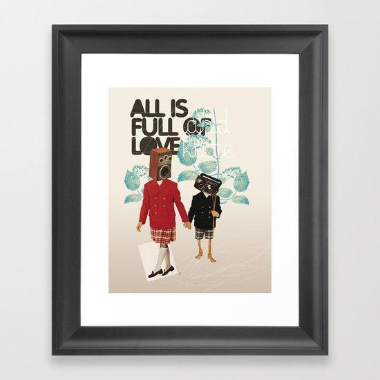 ALL IS FULL OF LOVE Framed Art Print