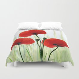 Poppies red 008 Duvet Cover