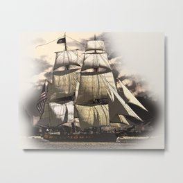 sailing ship vintage Metal Print