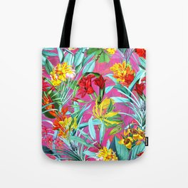 Vintage & Shabby Chic - Colorful Tropical Summer Pink Garden Tote Bag
