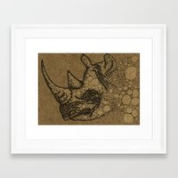 rhino Framed Art Prints featuring Rhino by Julia Kisselmann