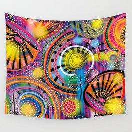 Biology of Lovers on a Rainy Night (Horizontal) Wall Tapestry