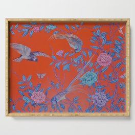 'Of Leaf, Bird, and Flower', by Geogina Heffernan Serving Tray