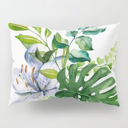 Flower and Leaves Pillow Sham