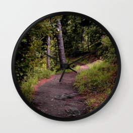 Peaceful Forest Trail Wall Clock