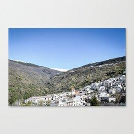Pueblos Blancos with Sierra Nevada Canvas Print