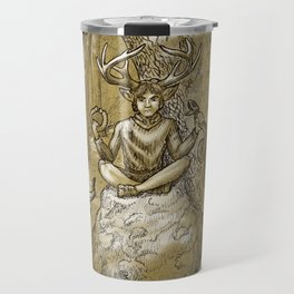 Cernunnos (monochrome) Travel Mug