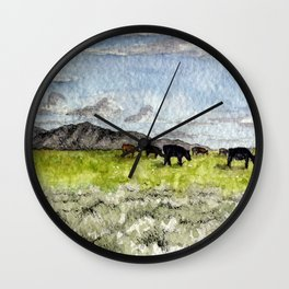 Until the Cows Come Home Wall Clock