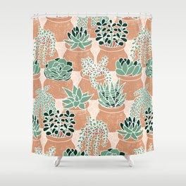 Succulent's Tiny Pots Shower Curtain