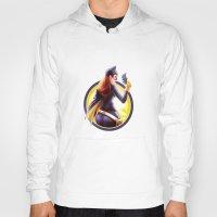 batgirl Hoodies featuring Batgirl by kcspaghetti