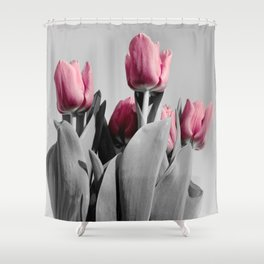 Ascend - Pink Tulips...Lighter Shower Curtain