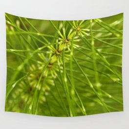 Spiky green fronds Wall Tapestry