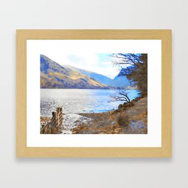 Little Tree at Buttermere, Lake District UK Watercolour Painting Framed Art Print