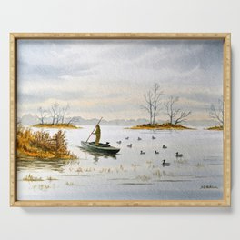 Duck Hunting - The Island Duck Blind Serving Tray