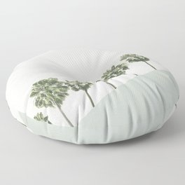 Palm Trees 4 Floor Pillow
