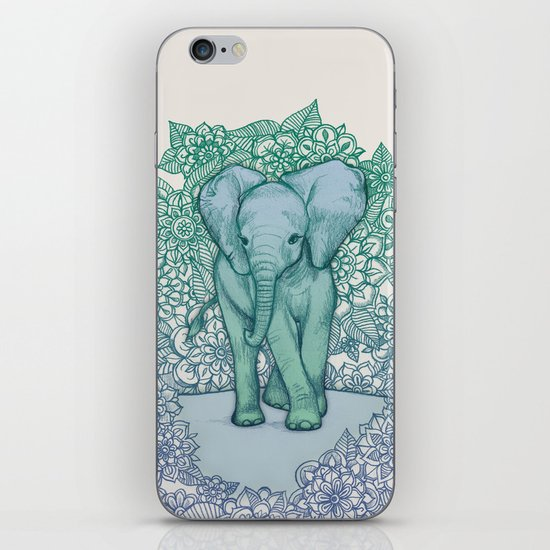 Emerald Elephant in the Lilac Evening iPhone & iPod Skin