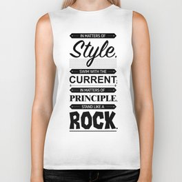 Lab No. 4 Swim With The Current Thomas Jefferson Life Inspirational Quotes Biker Tank