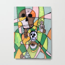 Skulls&Buddha 56 Metal Print