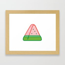 Juicy Watermelon Framed Art Print