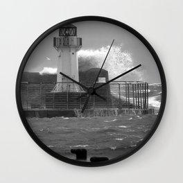 Ardrossan Lighthouse Versus the Sea Wall Clock