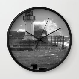 Ardrossan Lighthouse Versus the Sea Wall Clock