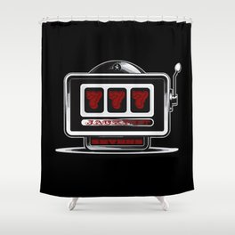 Jackpot Sevens Slots concept logo graphic Shower Curtain