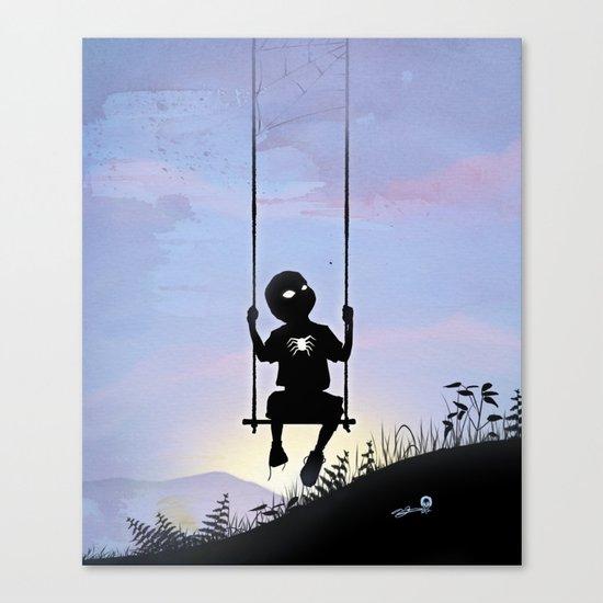 Spider Kid Canvas Print